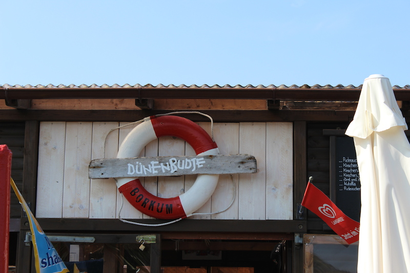 Dünenbudje-Borkum-Eingang