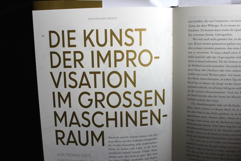Kombüsengold Typografie